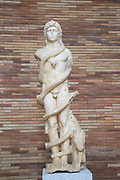 Mithraic Chronos, Museo Nacional de Arte Romano, national museum of Roman art, Merida, Extremadura, Spain