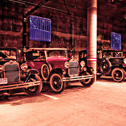 This image was shot in Mammoth, CA. A group of Model T Fords stopped overnight at the same hotel I was at and I managed to get them in this parking garage.