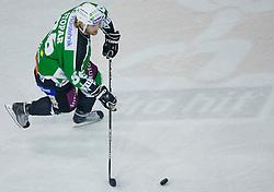 Jure Stopar (HDD Tilia Olimpija, #86) during ice-hockey match between HD Tilia Olimpija and HK Acroni Jesenice  in 8th Round of EBEL league, on October 3, 2010 at Hala Tivoli, Ljubljana, Slovenia. (Photo By Matic Klansek Velej / Sportida.com)