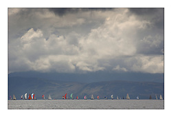 Yachting- The first days inshore racing  of the Bell Lawrie Scottish series 2003 at Tarbert Loch Fyne.  .Classes 1,2,3,4 sailing on the ourse in Southern Loch Fyne...Marc Turner / PFM