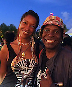 August 23, 2015- Brooklyn, NY-United States: Poet/Actress Liza Jessie Peterson and Recording Artist Vernon Reid attend the 2015 AFROPUNK Festival on August 23, 2015 held at Commodore Barry Park in Brooklyn, New York City.  AFROPUNK is an influential community of young, gifted people of all backgrounds who speak through music, art, film, comedy, fashion and more. Originating with the 2003 documentary that highlighted a Black presence in the American punk scene, it is a platform for the alternative and experimental.  (Terrence Jennings/terrencejennigs.com)
