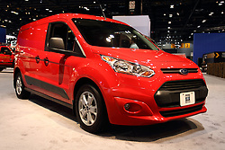 12 February 2015:  Ford Transit Connect.<br /> <br /> First staged in 1901, the Chicago Auto Show is the largest auto show in North America and has been held more times than any other auto exposition on the continent. The 2015 show marks the 107th edition of the Chicago Auto Show. It has been  presented by the Chicago Automobile Trade Association (CATA) since 1935.  It is held at McCormick Place, Chicago Illinois