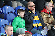 AFC Wimbledon fans watching on during the EFL Sky Bet League 1 match between AFC Wimbledon and Oxford United at the Cherry Red Records Stadium, Kingston, England on 10 March 2018. Picture by Matthew Redman.
