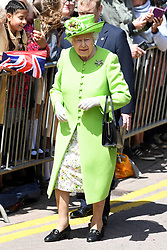 Queen Elizabeth II meets the crowd at Chester Town Hall