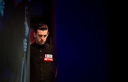 Mark Selby waiting backstage during day seventeen of the Betfred Snooker World Championships at the Crucible Theatre, Sheffield.