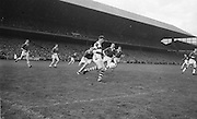 Cork goalie Billy Morgan clears the ball on the ground at the All Ireland Senior Gaelic Football Final Cork v. Meath in Croke Park on the 24th September 1967. Meath 1-9 Cork 0-9.