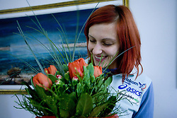 Nina Kolaric at welcome press conference after European Athletics Indoor Championships Torino 2009, AZS, Ljubljana, Slovenia, on March 9, 2009. (Photo by Vid Ponikvar / Sportida)