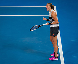 January 26, 2019 - Melbourne, AUSTRALIA - Petra Kvitova of the Czech Republic in action during the final of the 2019 Australian Open Grand Slam tennis tournament (Credit Image: © AFP7 via ZUMA Wire)