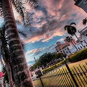 In Old San Juan near the Plaza de Colon, or Christopher Columbus Square.