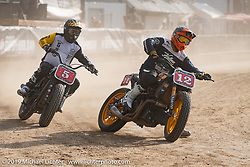 Hooligan races on the temporary track in front of the Sturgis Buffalo Chip main stage during the Sturgis Black Hills Motorcycle Rally. SD, USA. Wednesday, August 7, 2019. Photography ©2019 Michael Lichter.