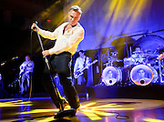 """BETHESDA, MD, DC - January 16th, 2013 - British music legend Morrissey (front) performs at the Strathmore Music Hall with Boz Boorer, Solomon Walker and Anthony Burulcich. His set included solo hits like """"Everyday Is Sunday"""" as well as material from The Smiths, such as """"Still Ill.""""( Photo by Kyle Gustafson/For The Washington Post)"""