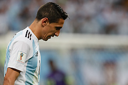 June 26, 2018 - Saint Petersburg, Russia - Angel Di Maria of Argentina national team during the 2018 FIFA World Cup Russia group D match between Nigeria and Argentina on June 26, 2018 at Saint Petersburg Stadium in Saint Petersburg, Russia. (Credit Image: © Mike Kireev/NurPhoto via ZUMA Press)