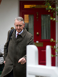 © Licensed to London News Pictures. 02/12/2015. London, UK. Labour  Shadow Foreign Secretary HILARY BENN leaving his home in West London on the day that parliament is due to debate and vote on UK military involvement in the bombing of ISIS in Syria. Photo credit: Ben Cawthra/LNP