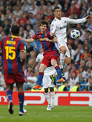 27-04-2011 VOETBAL: SEMI FINAL CL REAL MADRID - FC BARCELONA: MADRID<br /> Cristiano Ronaldo and Lionel Mess<br /> *** NETHERLANDS ONLY***<br /> ©2011-FH.nl- EXPA/ Alterphotos/ ALFAQUI / Alex Cid-Fuentes