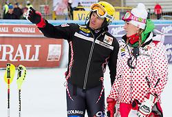 KOSTELIC Ivicaof Croatia and his sister Janica Kostelic prior to the 1st Run of Men's Slalom - Pokal Vitranc 2012 of FIS Alpine Ski World Cup 2011/2012, on March 11, 2012 in Vitranc, Kranjska Gora, Slovenia.  (Photo By Vid Ponikvar / Sportida.com)