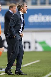September 24, 2017 - Gent, BELGIUM - Essevee's head coach Francky Dury reacts during the Jupiler Pro League match between KAA Gent and SV Zulte Waregem, in Gent, Sunday 24 September 2017, on the eighth day of the Jupiler Pro League, the Belgian soccer championship season 2017-2018. BELGA PHOTO JASPER JACOBS (Credit Image: © Jasper Jacobs/Belga via ZUMA Press)