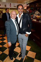 Left to right, WAYNE SLEEP and chef REZA MAHAMMAD at the Tabasco British Oyster Opening Championship 2013 at J Sheekeys, 28-35 St. Martins Court, London on 9th September 2013.
