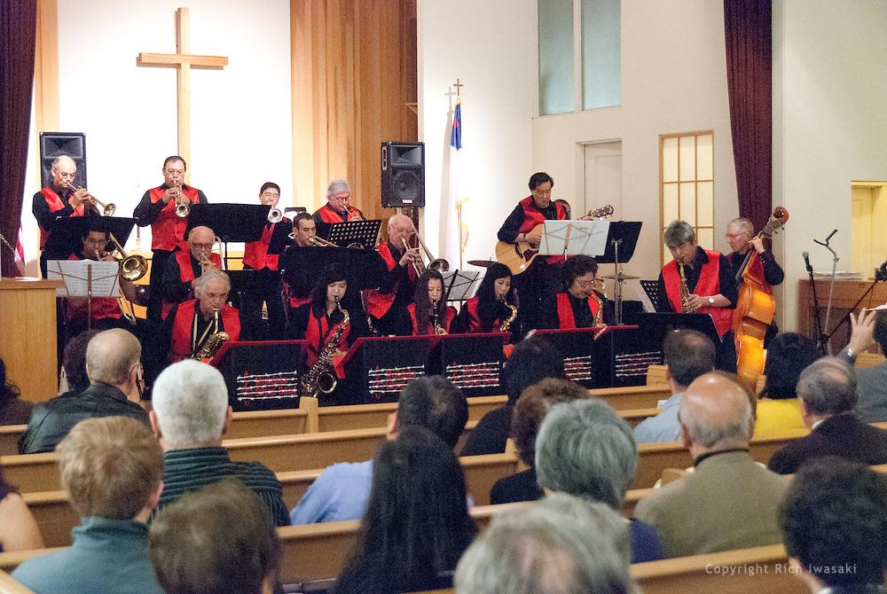 The Minidoka Swing Band performs at the 2011 Memorial Tribute to Robbie Tsuboi, Epworth United Methodist Church, Portland, Oregon