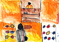 """""""I Want to Be a Lawyer"""" by an Afghan girl, age 10, in the Bogovadja Serbian refugee camp."""