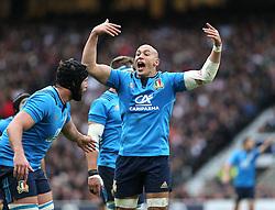 26 February 2017 : 6 Nations Rugby : England v Italy :<br /> Italian captain Sergio Parisse .<br /> Photo: Mark Leech