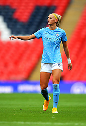 Chloe Kelly of Manchester City Women gestures- Mandatory by-line: Nizaam Jones/JMP - 29/08/2020 - FOOTBALL - Wembley Stadium - London, England - Chelsea v Manchester City - FA Women's Community Shield