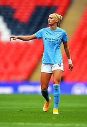 Chloe Kelly of Manchester City Women gestures- Mandatory by-line: Nizaam Jones/JMP - 29/08/2020 - FOOTBALL - Wembley Stadium - London, England - Chelsea v Manchester City - FA Women's Community Shield