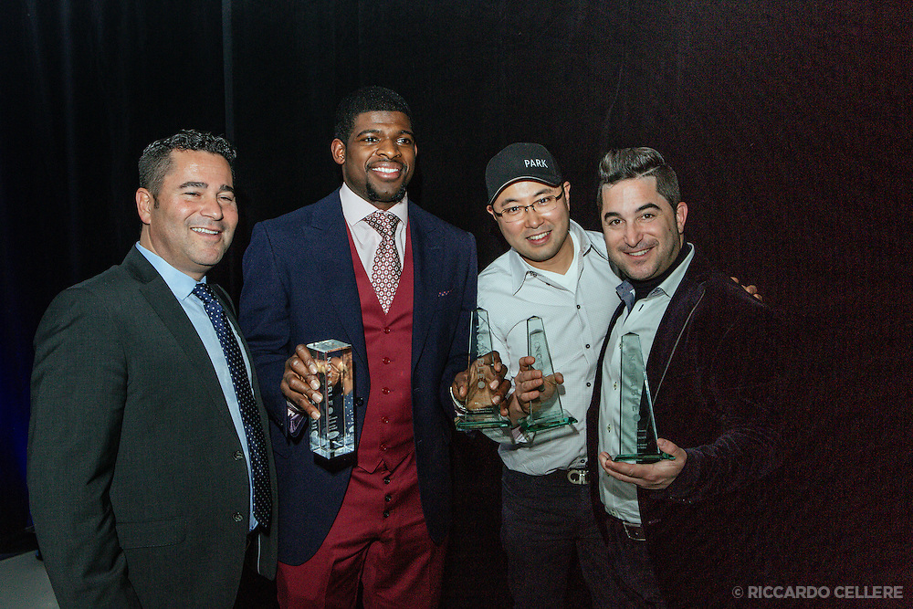 Jon Silver, P.K. Subban, Antonio Park and Josh Silver at Notable awards Montreal - November 26, 2014.