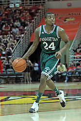 20 November 2013:  George Beamon during an NCAA Non-Conference mens basketball game between theJaspers of Manhattan and the Illinois State Redbirds in Redbird Arena, Normal IL