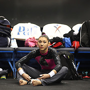 Kyla Ross, Aliso Viejo, California, during the Senior Women Competition at The 2013 P&G Gymnastics Championships, USA Gymnastics' National Championships at the XL, Centre, Hartford, Connecticut, USA. 15th August 2013. Photo Tim Clayton