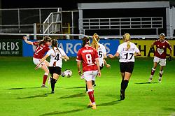 Emma Bissell of Bristol City Women takes a shot at goal - Mandatory by-line: Dougie Allward/JMP - 07/10/2020 - FOOTBALL - Twerton Park - Bath, England - Bristol City Women v London Bees - FA Continental Cup