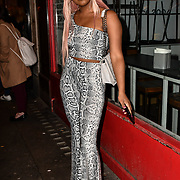 Cephece Harriott-Richards attend TMA Talent Management Group host launch party for their new dating app, The List at 100 Wardour Street  on 3rd April 2019, London, UK.