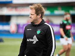 Pau's Head Coach Simon Mannix during the pre match warm up<br /> <br /> Photographer Simon King/Replay Images<br /> <br /> European Rugby Challenge Cup - Semi Final - Cardiff Blues v Pau - Saturday 21st April 2018 - Cardiff Arms Park - Cardiff<br /> <br /> World Copyright © Replay Images . All rights reserved. info@replayimages.co.uk - http://replayimages.co.uk