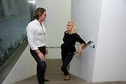 GRAHAM SEAL; CHRISTINE TARDY, Tracey Emin opening. White Cube. Mason's Yard. London. 28 May 2009.