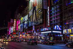 NEW YORK, NY - OCT 16, Stock photos of New York City night life. 2015 in New York, NY USA. Byline, credit, TV usage, web usage or linkback must read SILVEXPHOTO.COM. Failure to byline correctly will incur double the agreed fee. Tel: +1 714 504 6870.
