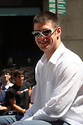 Joe Mauer at the Major League Baseball All-Stars and 49 Hall of Famers ride up Sixth Avenue in All Star-Game Red Carpet Parade Presented by Chevy on July 15, 2008