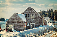 A Port Clyde Maine street in mid winter. Cold but still charming.