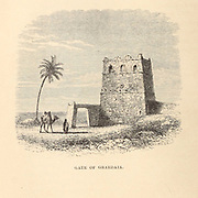 Gate of Ghardaia [Algeria] From the Book ' Great Sahara: wanderings south of the Atlas Mountains. ' by Tristram, H. B. (Henry Baker),  Published by J. Murray in London in 1860