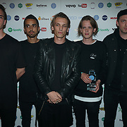 The Brewery,London,England,UK. 5th September 2017. Winner BEST LIVE ACT: COUNTERFEIT the AIM Awards at The Brewery, London, UK