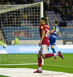 Jamie Paterson of Bristol City celebrates after scoring his sides first goal - Mandatory by-line: Jack Phillips/JMP - 11/01/2020 - FOOTBALL - DW Stadium - Wigan, England - Wigan Athletic v Bristol City - English Football League Championship