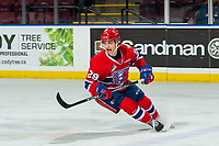 KELOWNA, BC - MARCH 13: Eli Zummack #29 of the Spokane Chiefs skates against the Kelowna Rockets at Prospera Place on March 13, 2019 in Kelowna, Canada. (Photo by Marissa Baecker/Getty Images)