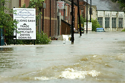 A partially submerged Landrover close to Effingham Steel on Butterthwait Lane Ecclesfield..25th June 2007.Image COPYRIGHT Paul David Drabble.