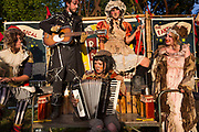 Shangri La is a festival of contemporary performing arts held each year within Glastonbury Festival. The theme for the 2015 Shangri La was Protest. <br /> Cirque du Flop performs in the Unfair Grounds