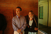 Henry Dent-Brocklehurst and  Anne de Charmant. Mollie Dent-Brocklehurst and Vanity Fair host  the opening of 'Vertigo'  a mixed art exhibition at Sudeley Castle. Winchombe, Gloucestershire. 18 June 2005. ONE TIME USE ONLY - DO NOT ARCHIVE  © Copyright Photograph by Dafydd Jones 66 Stockwell Park Rd. London SW9 0DA Tel 020 7733 0108 www.dafjones.com