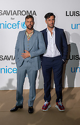 Ricky Martin and Jwan Yosef arriving at a photocall for the Unicef Summer Gala Presented by Luisaviaroma at Villa Violina on August 10, 2018 in Porto Cervo, Italy. Photo by Alessandro Tocco/ABACAPRESS.COM