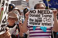 Anti Japanese Emperor and Trump demo 5/26/19