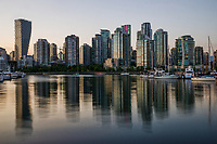 Vancouver Skyline Reflection, Charleson Park