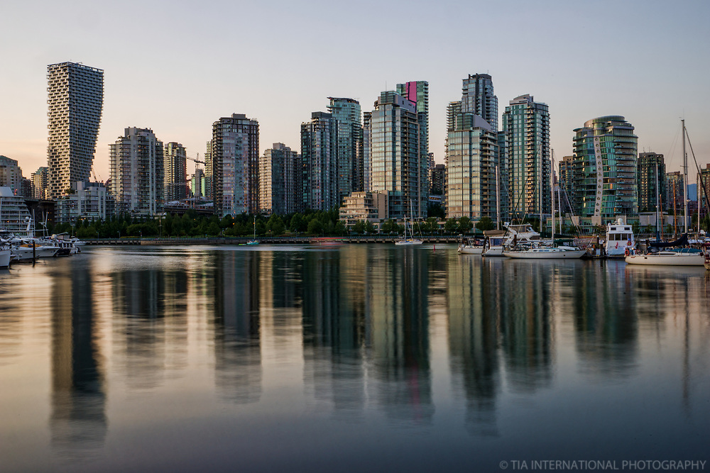 Vancouver Skyline Reflection, Charleson Park
