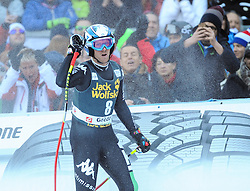 21.12.2013, Saslong, Groeden, ITA, FIS Ski Weltcup, Groeden, Abfahrt, Herren, im Bild Werner Heel (ITA) // Werner Heel of Italy reacts in the finish Area during mens Downhill of the Groeden FIS Ski Alpine World Cup at the Saslong Course in Gardena, Italy on 2012/12/21. EXPA Pictures © 2013, PhotoCredit: EXPA/ Erich Spiess