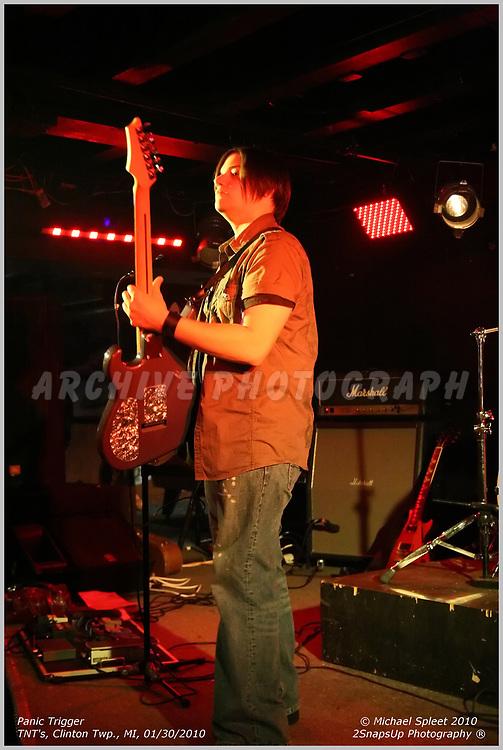 CLINTON TOWNSHIP, MI, SUNDAY, JAN. 31, 2010: Panic Trigger, Tommy Furbacher at TNT's, Clinton Township, MI, 01/31/2010. (Image Credit: Michael Spleet / 2SnapsUp Photography)