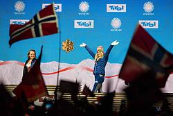 February 23, 2019 - Seefeld In Tirol, AUSTRIA - 190223 Gold medalist Therese Johaug of Norway celebrates at the medal ceremony for women's cross country skiing skiathlon during the FIS Nordic World Ski Championships on February 23, 2019 in Seefeld in Tirol..Photo: Joel Marklund / BILDBYRÃ…N / kod JM / 87887 (Credit Image: © Joel Marklund/Bildbyran via ZUMA Press)